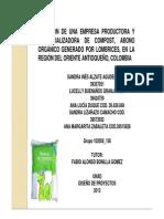 ABONO Creación de Una Empresa Productora y Comercializadora de Compost Por Fabio Alonso Bonilla Gomez de La UNAD
