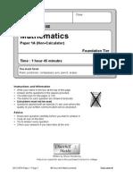 2012 Edexcel Foundation a Paper 1