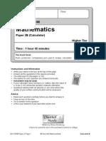 2012 Edexcel Higher B Paper 2
