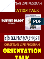 CLP Orientation Talk