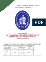 Procedura Finalizare Bologna
