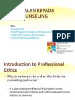 1) Pengenalan Kepada Etika Kaunseling