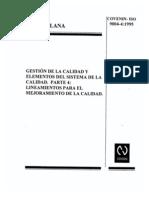 9004-4-1995-Sistema de Gestion de La Calidad Para La Mejora Del Desenpeño