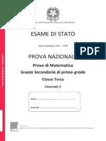 Invalsi Terza Media Matematica 2014