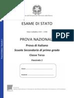 Invalsi Terza Media Italiano 2014