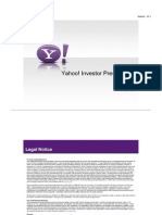 Yahoo Investor Presentation