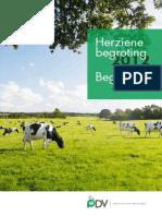 Herziene Begroting 2012 Begroting 2013 Productschap Diervoeder PDV