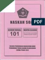 Spmb-ptain 2012 (Kode Soal 101) (1)