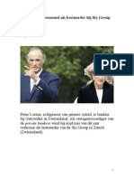 Prins Lorenz benoemd bij Six Group
