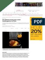 Os Melhores Locais Para ...Res No Porto - Visao