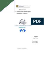 Trabajo Final Investigacion de Mercados Cualitativa, Audemar Ruiz