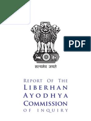liberhan commission report pdf