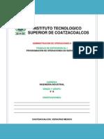 Programacion de Operaciones en Los Servicios