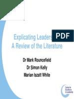 Leadership Lit Review