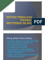 Topik 11. Metode Pemuliaan Tanaman Menyerbuk Silang