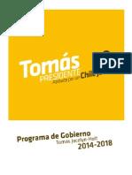 Programa Gobierno Tomas Jocelyn Holt 2014 2018