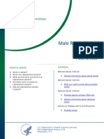Male Reproductive Cancers Fact Sheet