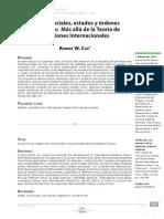 Cox. Fuerzas Sociales, Estados y Ordenes Mundiales