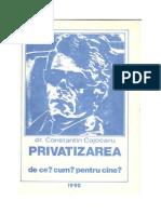 Privatizarea de Ce Cum Pentru Cine