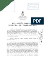 Acta Sesión Ordinaria 06-02-2014