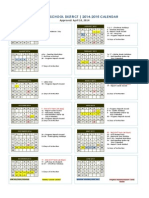 2014 - 2015 School _ Calendar