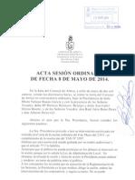 Acta Sesión Ordinaria 08-05-14