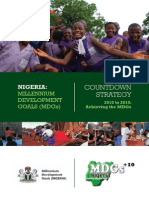 MDGs Nigeria - Countdown Strategy 2012 to 2015 Achieving the MDGs