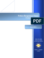 Denver Police Response Time Performance Audit