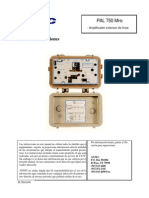 Manual Antec PAL 750 MHz