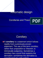 Axiomatic Design Corollaries and Theorems