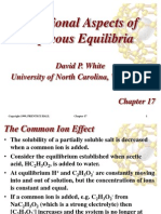 Chap 7 Additional Aspects of Aqueous Equilibria