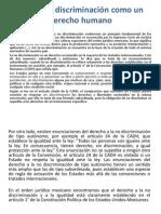 Lectura 2.3 La No Discriminacion Como Un Derecho Humano