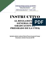 Instructivo Al Reglamento General de Graduacion de Pregrado de La Uteq