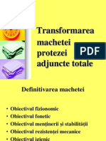 Transformarea machetei