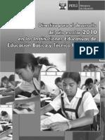 directiva_2010[1] Inicio de año escolar 2010 - Perú