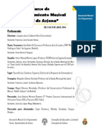 VI Curso Perfeccionamiento Musical CIUDAD de ARJONA y II Concurso Instrumental de Jóvenes Solistas CIUDAD de ARJONA