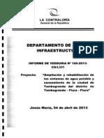 Veeduría - Obras de Agua Potable y Saneamiento - Distrito de Tambogrande - Piura