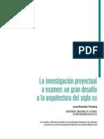 La Investigación Proyectual a Examen-josep Muntañola
