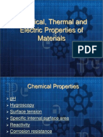 Chemical, Thermal and Electric Properties of Materials