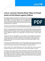 UNICEF Launches Tanzania Music Video to Prompt Action to End Violence against Children