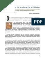 Los Orígenes de La Educación en México