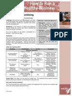 Fact Sheet Sanitising