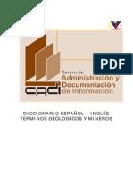 Diccionario de Términos Geológicos Minero Español Inglés