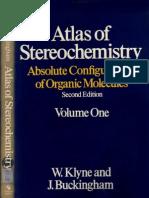 KlyneBuckingham-AtlasOfStereochemistryVolume1