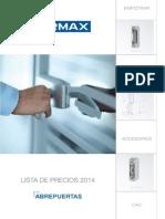 Catalogo Abrepuertas 2014