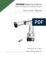 Textron G1 7120 en Manual