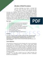Simplification of Work Procedures-Done-DM