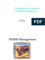 Equipment Configuration of Opencast Mining and HEMM Management