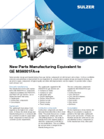 New Parts Manufacturing Equivalent to GE MS6001FA SULTZER 17 JUN