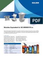 Nozzles Equivalent to GE MS6001FA SULTZER 17 JUN